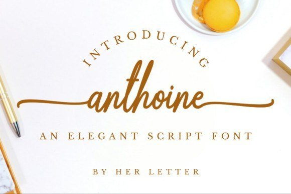 Anthoine Handwritten Font