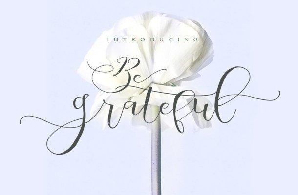 Be Grateful Script Font