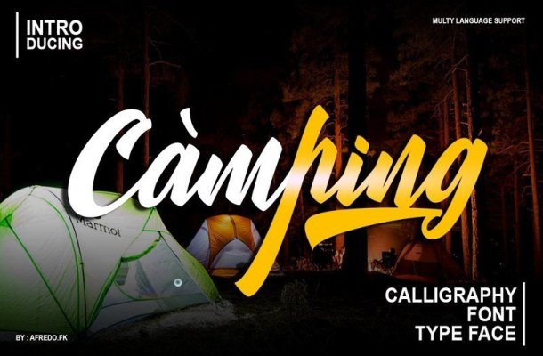 Camping Calligraphy Font
