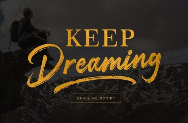 Darkline Brush Font