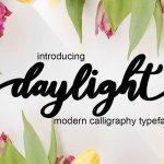 Daylight Calligraphy Font