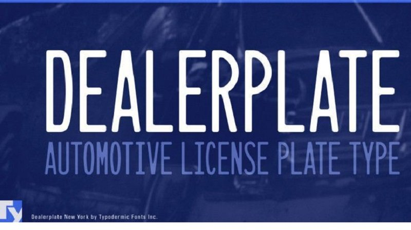 Dealerplate Font Family - All Free Fonts