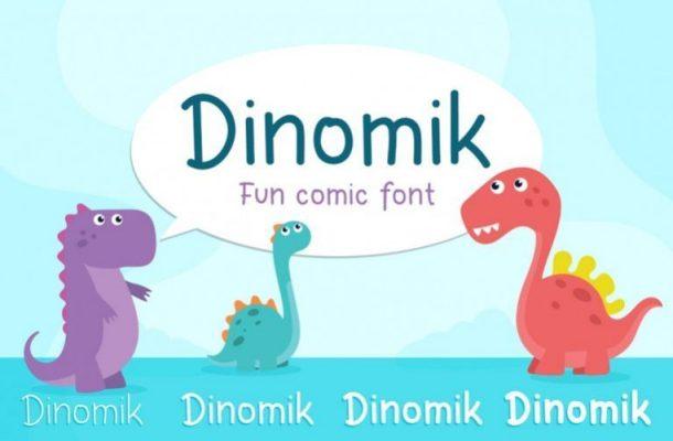 Dinomik Semibold Font
