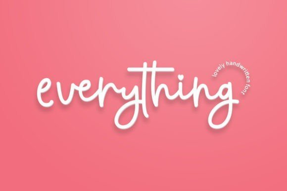 Everything Handwritten Font