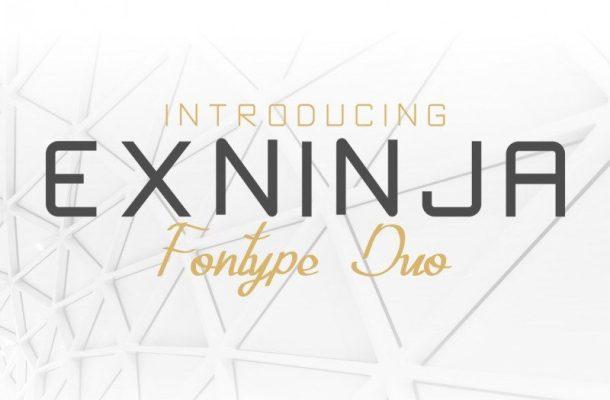 Exninja Font Duo