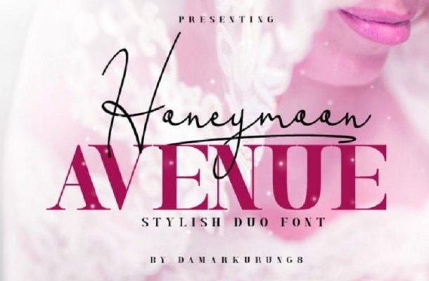 Honeymoon Avenue Script Font