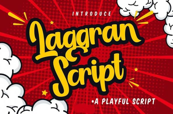 Laggran Playful Script Font