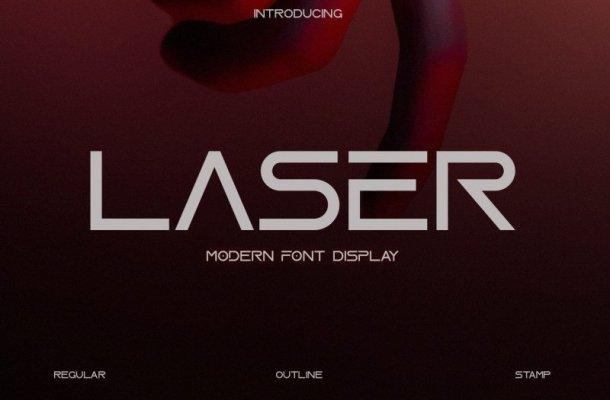 Laser Display Font