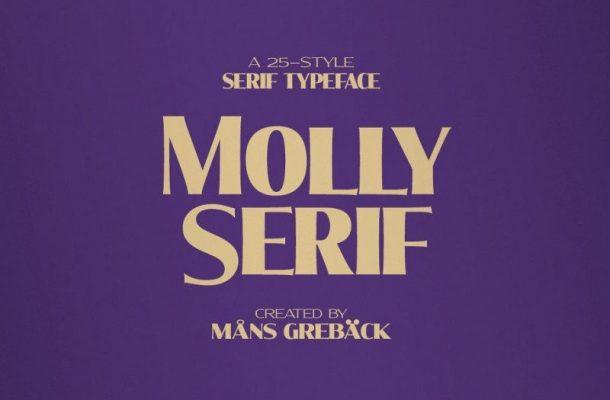 Molly Serif Font Family