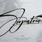 One Signature Font