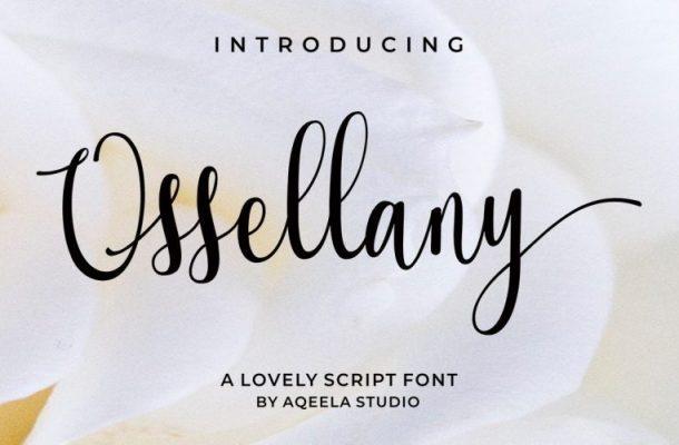 Ossellany Script Font