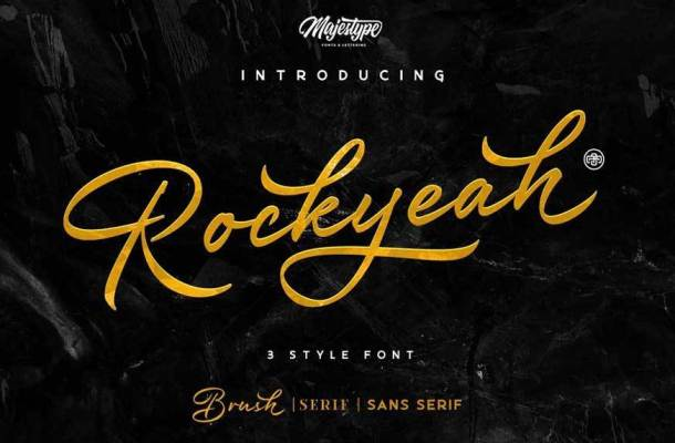 Rockyeah 3 Style Font