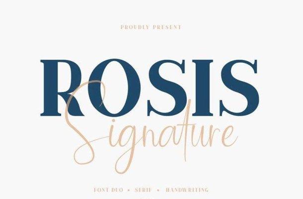 Rosis And Ballroom Font Duo