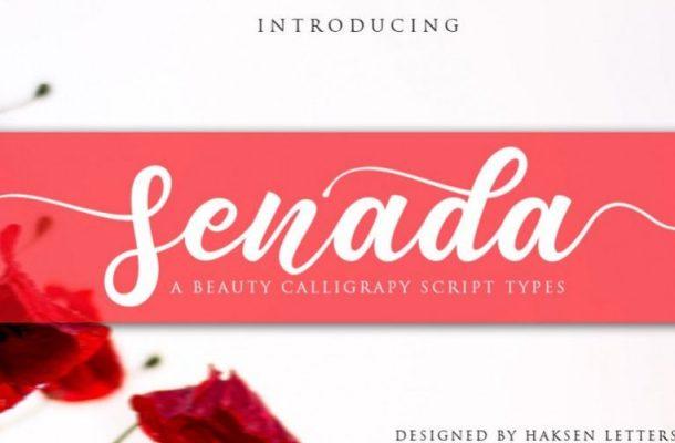 Senada Calligraphy Font