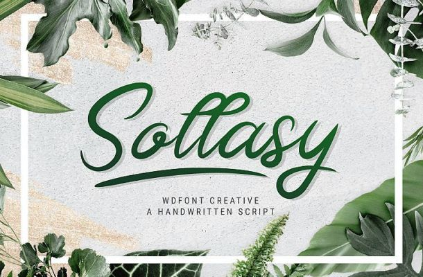 Sollasy Calligraphy Font