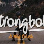 Strongbold Brush Font