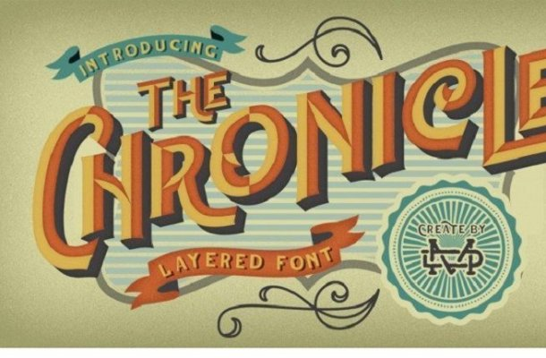 The Chronicle Layered Font