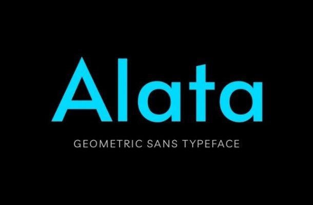 Alata Geometric Sans Font