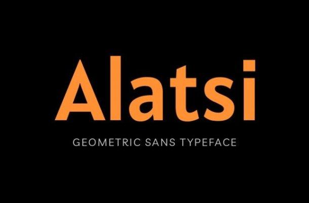 Alatsi Sans Serif Font