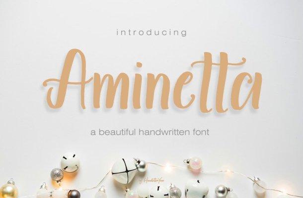 Aminetta Script Font