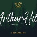 Arthur Hill Brush Font