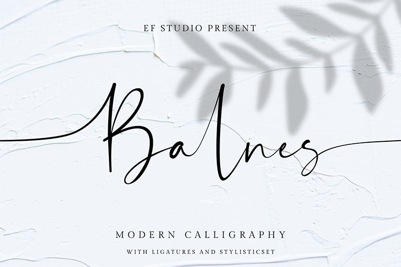 Balnes Font - All Free Fonts