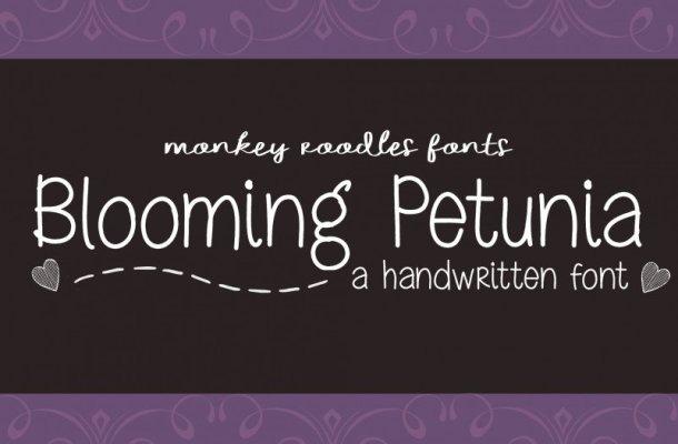 MRF Blooming Petunia Font