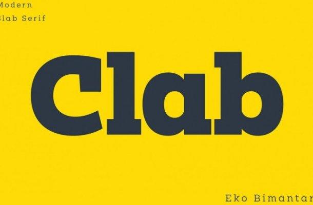 Clab Slab Serif Font