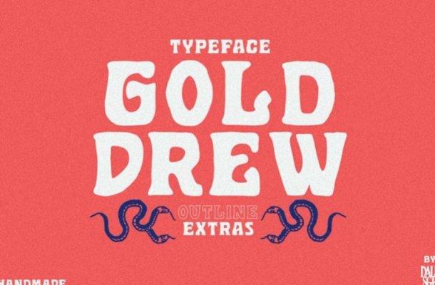 Golddrew Typeface