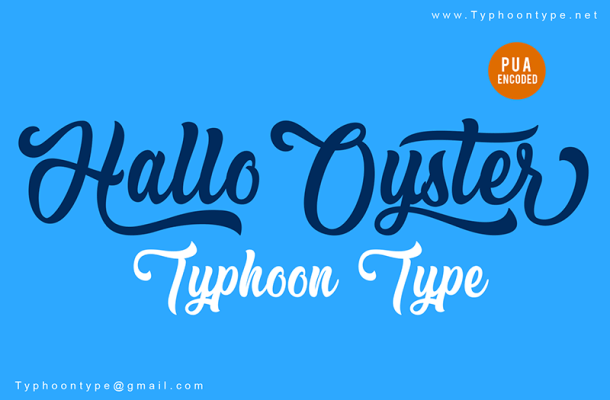 Hallo Oyster Font