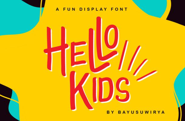 Hello Kids Font