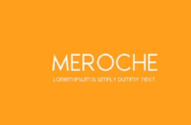 Meroche Font