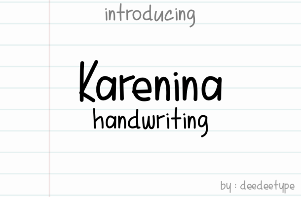 Karenina Handwriting Font