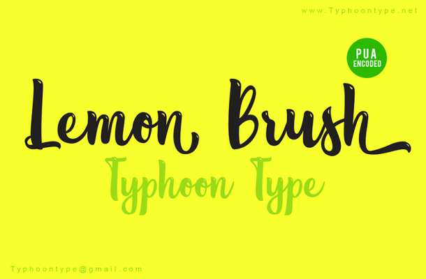 Lemon Brush Font