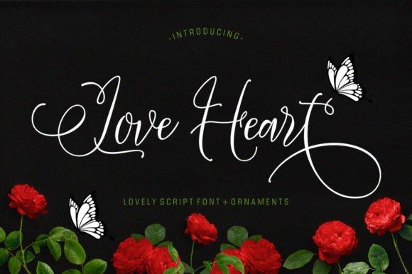 Love Heart Script Font