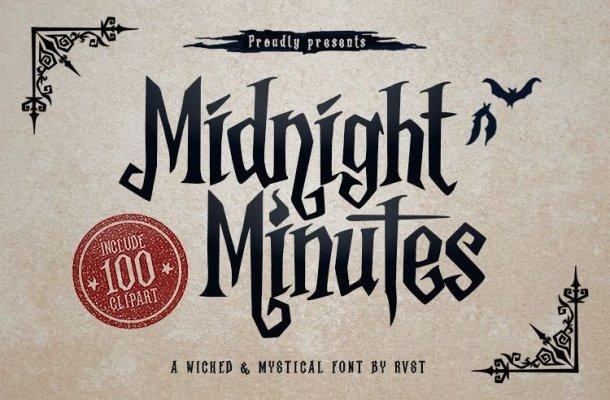 Midnight Minutes Regular Font