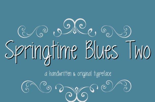 MRF Springtime Blues Two Font