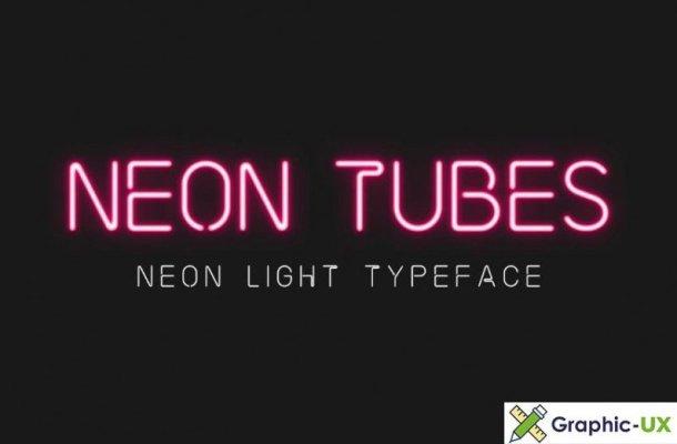 Neon Tubes – Neon Light Font free
