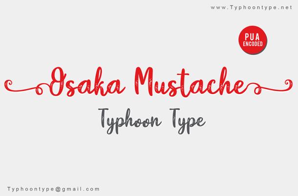 Osaka Mustache Font