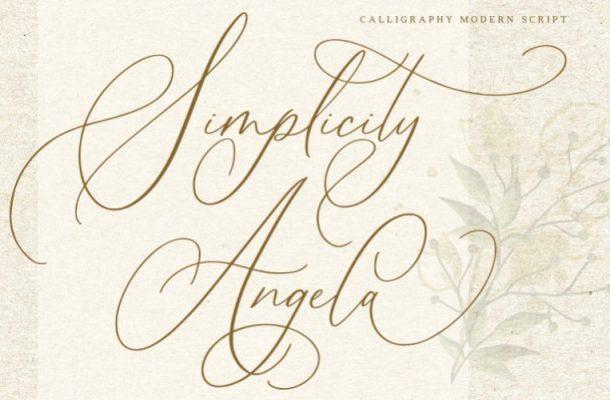 Simplicity Angela Calligraphy Font