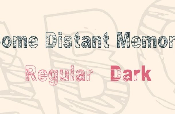Some Distant Memory Font Family