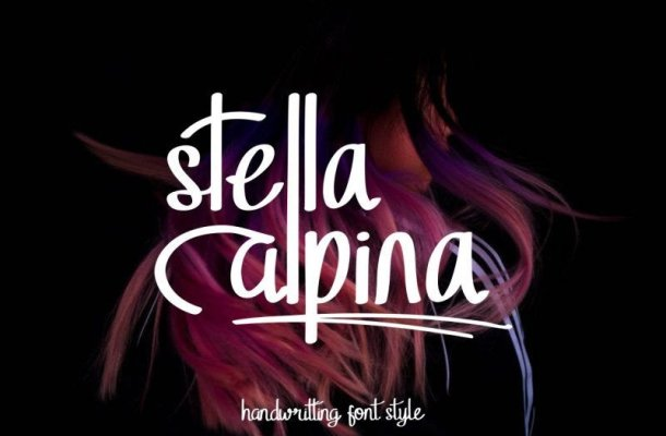 Stella Alpina Handwritten Font
