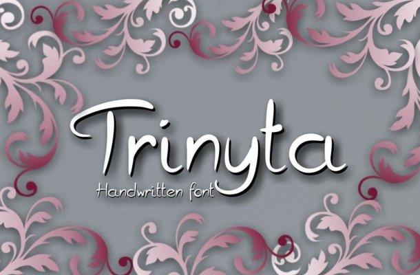 Trinyta Handwritten Font