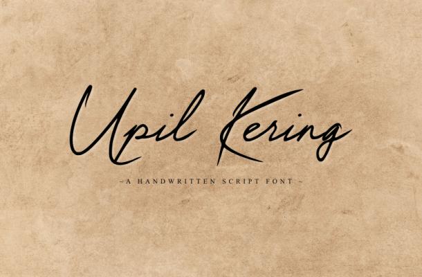 Upil Kering Font