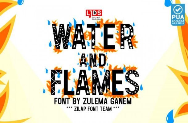 Water and Flames Font