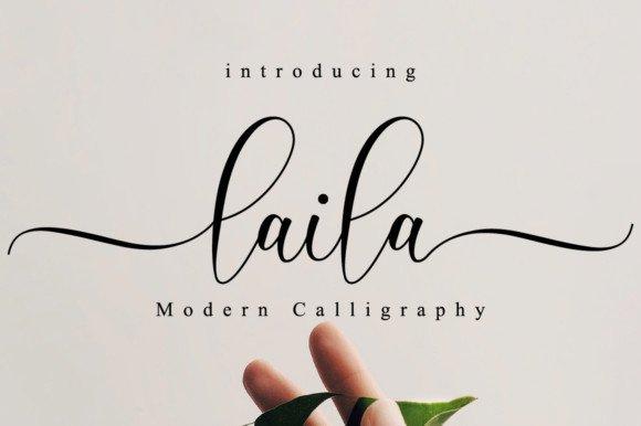 Laila Script Font