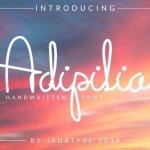 Adipilia Handwritten Font