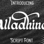 Alladhina Script Font