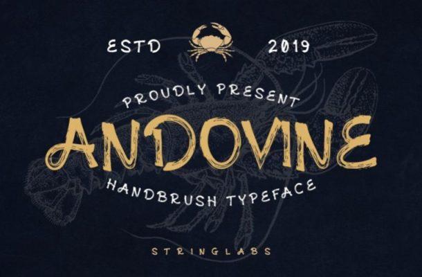 Andovine Handbrush Font