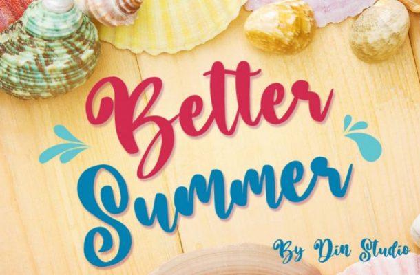 Better Summer Brush Font